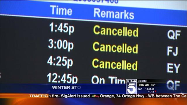 More Flights Cancelled at LAX Due to Northeast Storm