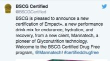 Mannatech's EMPACT+ Performance Drink Mix Earns BSCG Drug Free Certification