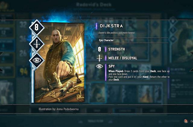 'Gwent: The Witcher Card Game' beta delayed to October