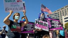 Women's March Protesters Rally Against Trump, Amy Coney Barrett: 'Women Are Going to Decide This Election'