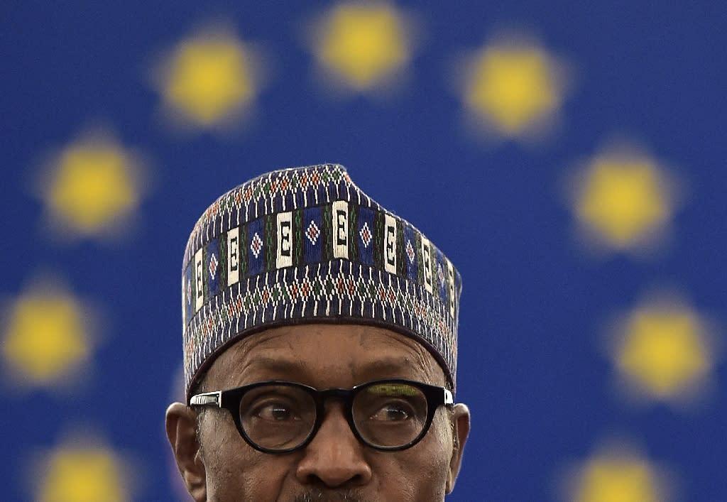 Nigerian President Muhammadu Buhari (AFP Photo/Patrick Hertzog)