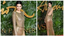 Kendall Jenner goes very sheer at the Fashion Awards