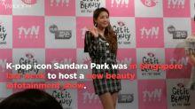 Sandara Park wraps filming beauty programme in Singapore