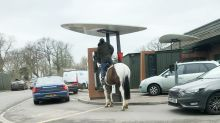 Stable diet: Man goes for McDonald's drive-thru on horseback