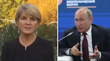 'It's time Russia accepted responsibility': Julie Bishop blasts Putin's dismissal of MH17 missile