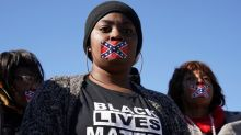 Protests greet Donald Trump at Mississippi Civil Rights Museum