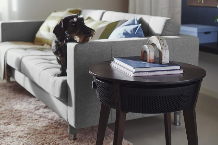 IKEA's first smart air purifier is also a side table