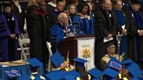 Graduation takes somber tone at Hofstra University
