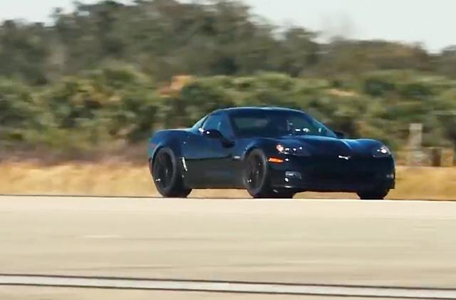 Watch an electric Corvette shatter a speed record