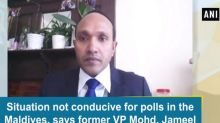 Situation not conducive for polls in the Maldives, says former VP Mohd. Jameel
