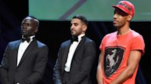 Pierre-Emerick Aubameyang looked a little too casual at the CAF awards ceremony