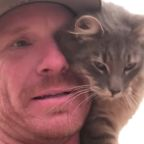 Cat Finds Friend In Firefighter Who Saved Her From California Wildfires