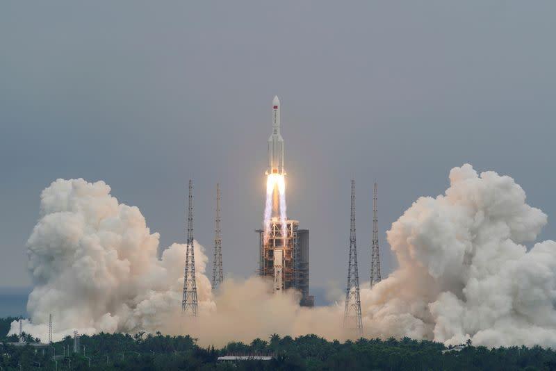 China: Rocket remnants landed in Indian Ocean