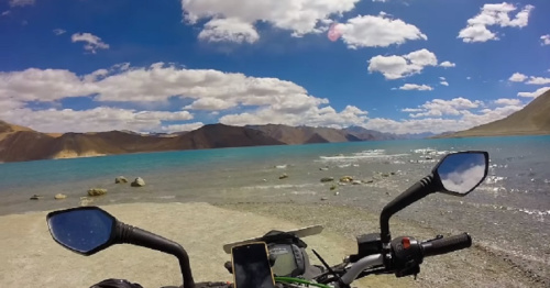 This guy filmed his motorcycle ride through the Himalayas and the footage is breathtaking