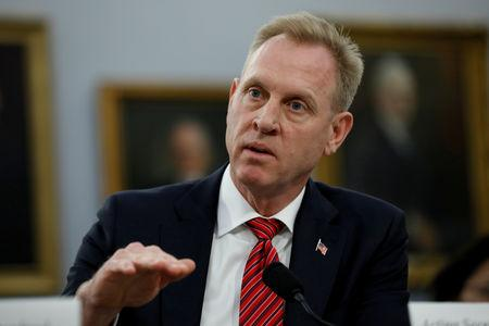 FILE PHOTO: Acting Defense Secretary Patrick Shanahan testifies before a House Appropriations Defense Subcommittee
