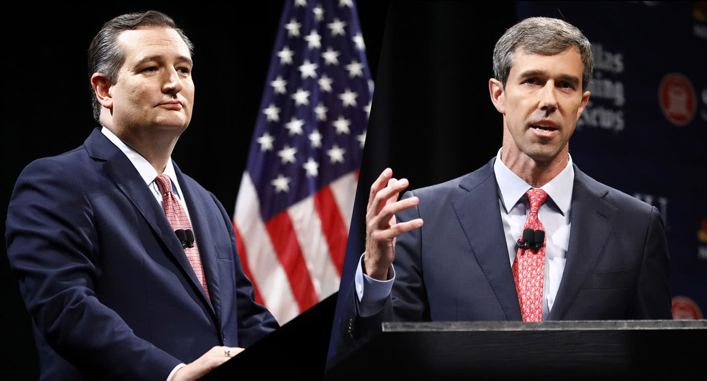 Cruz and O'Rourke face off in testy Texas Senate debate