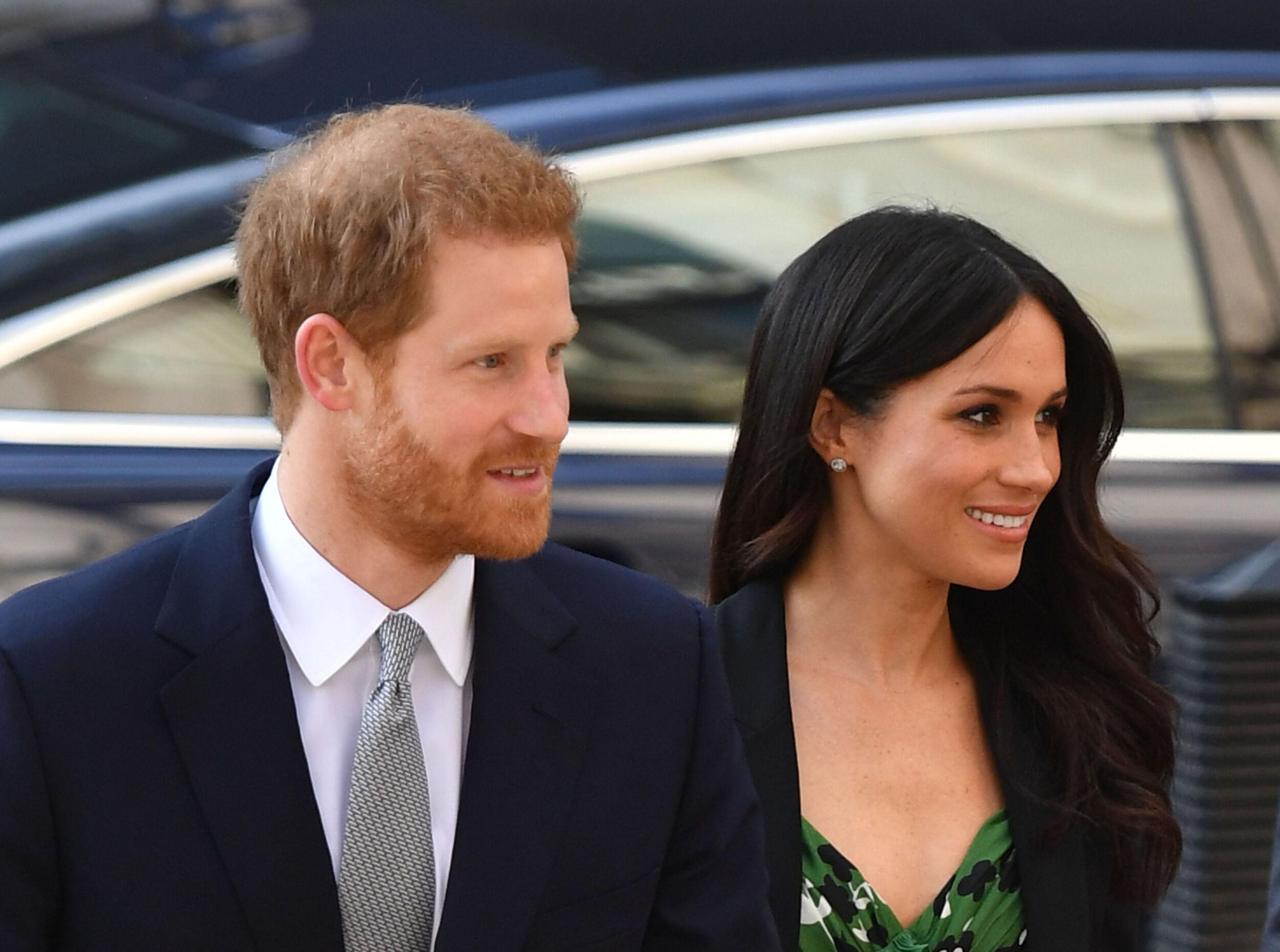 Prince Harry and Meghan Markle arrive at the Australian High Commission in London to attend a reception celebrating the forthcoming Invictus Games Sydney 2018.