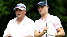 Justin Thomas putting Jimmy Johnson back on the bag for U.S. Open