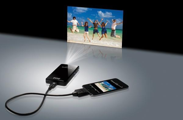 Microvision's PicoP-based SHOWWX+ projector: twice as bright, zero percent larger