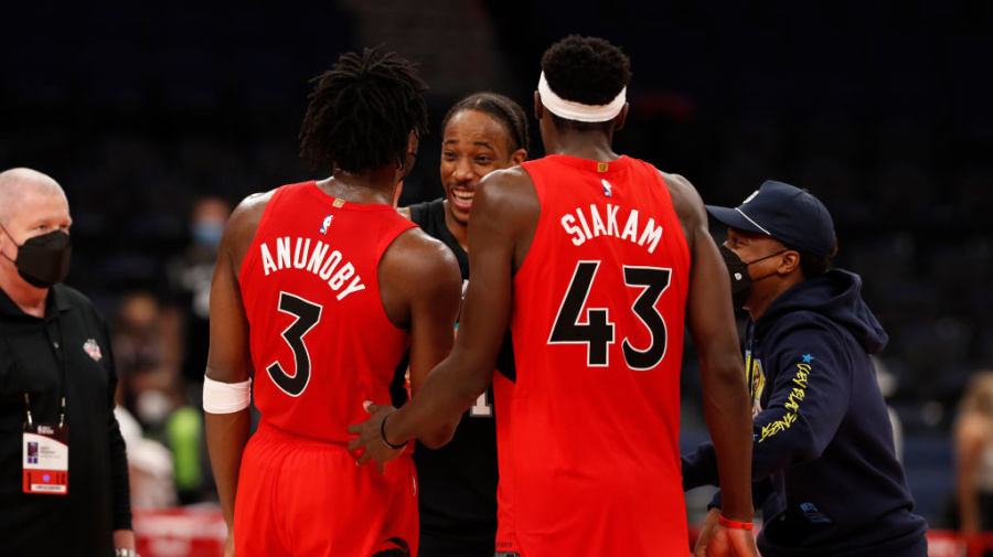 Shorthanded Raps deliver gritty win over Spurs