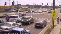 Caught On Tape: Motorcyclist Walks Away From Triple Flip Accident