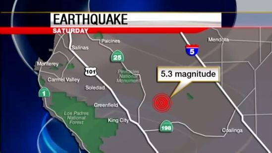 5.3 earthquake shakes up the Central Coast