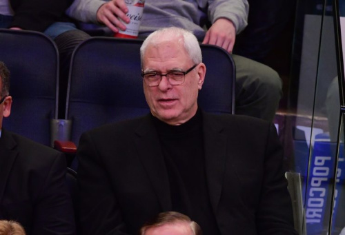 Phil Jackson doesn't appear to be helping the Knicks' situation with Carmelo Anthony. (Getty Images)