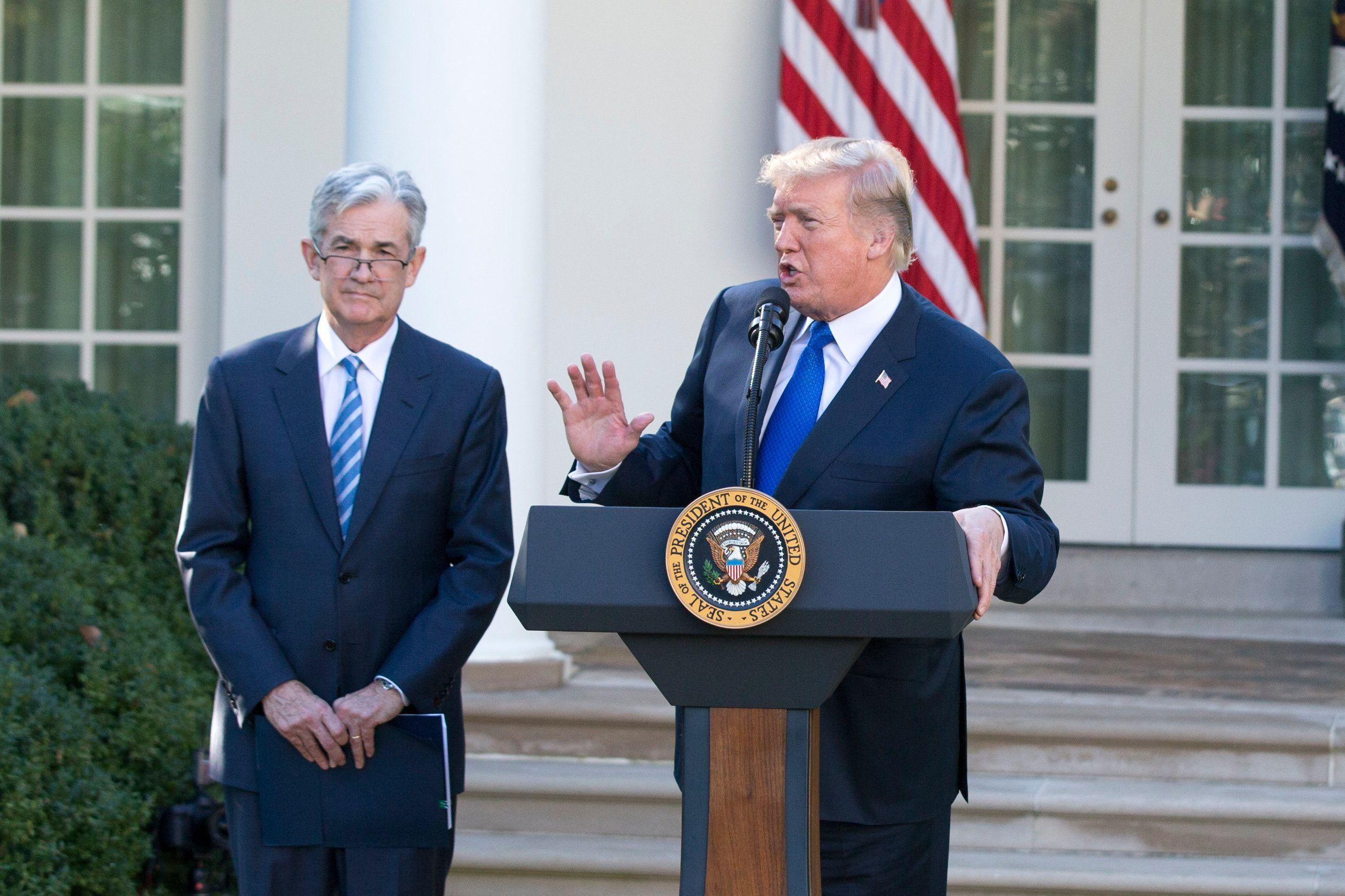 Trump: The economy would've grown over 4% if the Fed hadn't raised rates