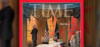 New Time cover depicts chaos Biden must address