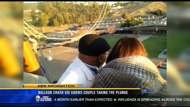 Balloon crash video shows couple taking the plunge