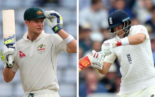 Steve Smith and Joe Root will lead their sides into the 70th Ashes series this winter - Getty Images