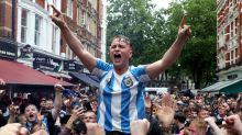 England and Scotland football fans swarm central London ahead of Euros clash