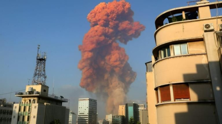 Massive explosions rock Beirut, dozens wounded