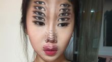 Artist creates incredible optical illusions with makeup