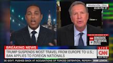 Don Lemon gets in heated argument with John Kasich over Trump's coronavirus address