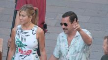 Jennifer Aniston and Adam Sandler Hold Hands While Filming Netflix Comedy in Italy
