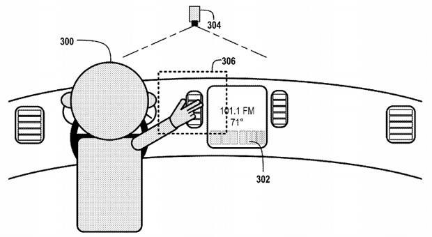 Google applies for patent on gesture-based car controls