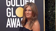 This was Jennifer Aniston's reaction to Brad Pitt's joke about his dating life at the Golden Globes