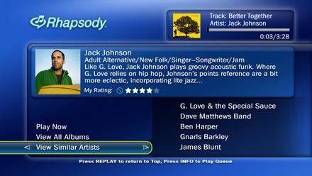 TiVo picks up Rhapsody support, learns to love music