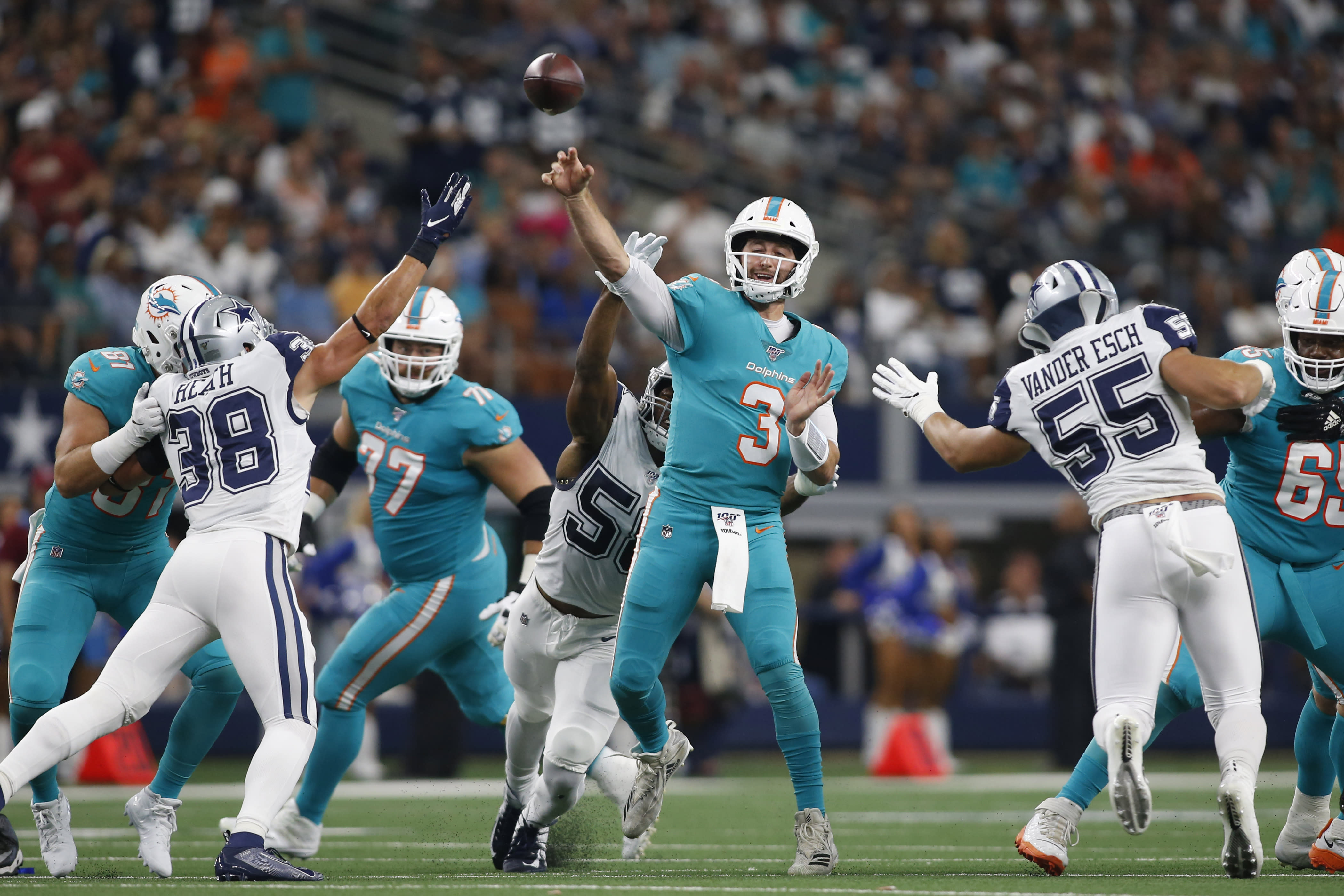 Three Dolphins who received positive reviews from Day 1 of pads