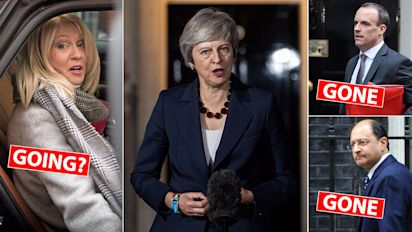 Chaos erupts over May's Brexit plans