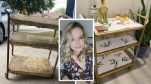Self-taught DIYer mum, 25, earns 'hundreds' selling furniture flips