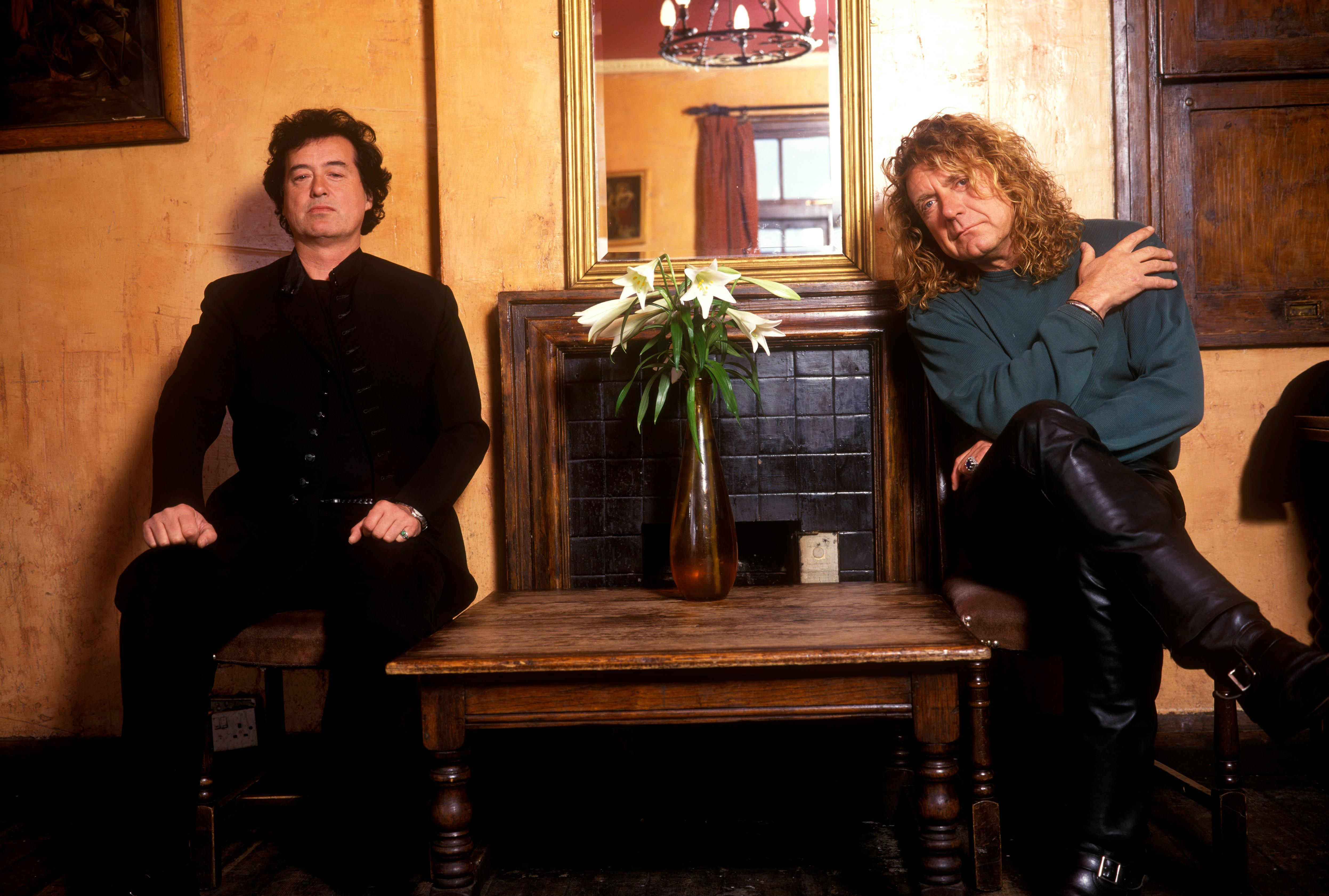 Flashback 1998 jimmy page robert plant together again for House music 1998