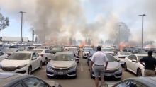 California brush fire torches $2.1 million worth of cars on a CarMax lot