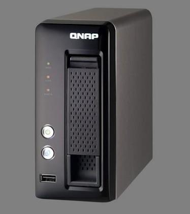 QNAP's TS-119P+ Turbo NAS offers a 'fashionably shiny design,' just one HDD bay