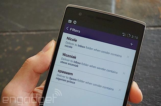 Yahoo Mail for Android now lets you filter emails while on the move