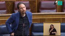 """El duro reproche de Iglesias tras lo que se escuchó en el Congreso: """"¿No se les cae la cara de vergüenza?"""""""