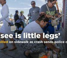 'All I See Is Little Legs.' 2 Boys Killed on Sidewalk as Crash Sends Police Car Off Road