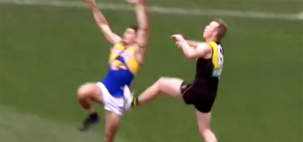Controversy over Riewoldt 'studs up' free kicks