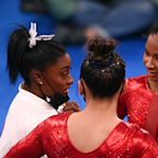 Here's the moment Simone Biles left the Olympic gymnastics team competition